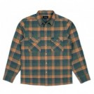 "BRIXTON L/Sシャツ ""ARCHIE L/S FLANNEL"" (Green Plaid)"