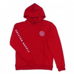 "BRIXTON パーカ ""OATH SV HOOD FLEECE"" (Red/White)"