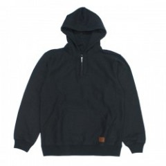 "BRIXTON パーカ ""LONGMAN 1/2 ZIP HOOD FLEECE"" (W.Blk)"