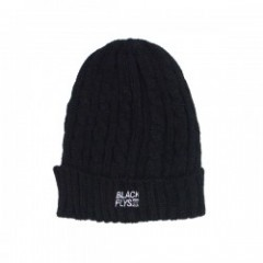 "BLACKFLYS ビーニー ""STANDARD TRADE CABLE KNIT"" (Black)"