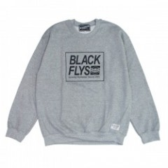 "★30%OFF★ BLACKFLYS ""BOX STANDARD TRADE CREW"" Gray"