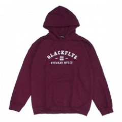 "BLACKFLYS パーカ ""ATHLETIC PULLOVER HOODIE"" (Maroon)"