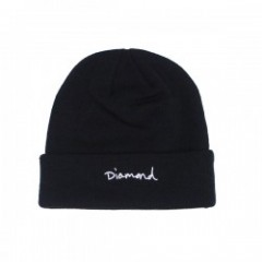 "Diamond Supply Co. ""OG SCRIPT BEANIE"" (Black)"