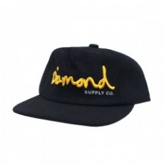Diamond Supply Co. OG SCRIPT UNCONSTRUCTED CAP Bk