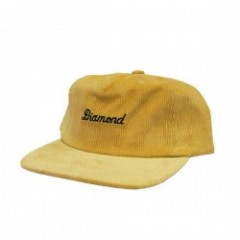 "Diamond Supply Co. ""CITY SCRIPT CORDUROY CAP"" Gold"