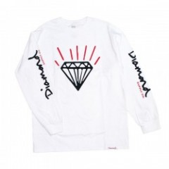 "Diamond Supply Co. ""GEM LONG SLEEVE TEE"" (White)"