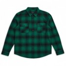 "BRIXTON L/Sシャツ ""BOWERY L/S FLANNEL"" (Green/Black)"