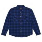 "BRIXTON L/Sシャツ ""BOWERY L/S FLANNEL"" (Navy/Royal)"
