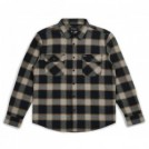 "BRIXTON L/Sシャツ ""BOWERY L/S FLANNEL"" (Black/Cream)"