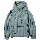 "Deviluse パーカ ""PAINT PULLOVER HOODED"" (Dull Blue)"