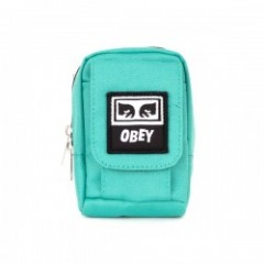 "OBEY ミニポーチ ""DROP OUT UTILITY SMALL BAG"" (Teal)"