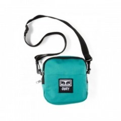 "OBEY ミニショルダーバッグ ""DROP OUT TRAVELER BAG"" (Teal)"