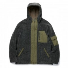 "RADIALL ボアフードジャケット ""WALKING DOG BOA PARKA"" (Olive)"
