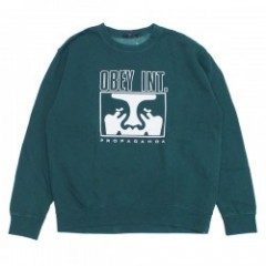 "OBEY クルースウェット ""OBEY INT. ICON FACE CREWNECK"" (Dusty Pine)"