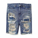 "【3〜4月入荷予定】MSML ショーツ ""CRASH SARROUEL DENIM SHORTS"" (Indigo)"