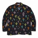 "【2〜3月入荷予定】MSML L/Sシャツ ""CROSSES OPEN COLLAR LONG SLEEVE SHIRT"" (Black)"