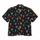 "【3〜4月入荷予定】MSML S/Sシャツ ""CROSSES OPEN COLLAR SHORT SLEEVE SHIRT"" (Black)"