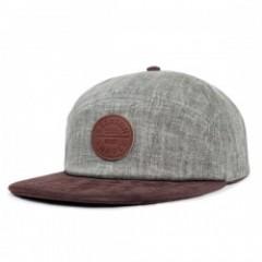 "BRIXTON キャップ ""OATH 7 PANEL CAP"" (Gray/Brown)"