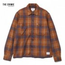 "CRIMIE L/Sシャツ ""CHECK SHAGGY KNIT SHIRT"" (Brown)"