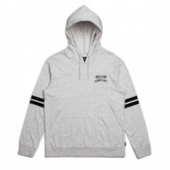 "BRIXTON ""WOODBURN L/S HOOD KNIT"" (Heather Stone)"