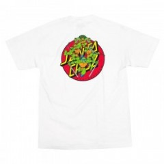 "SANTA CRUZ×TMNT コラボTシャツ ""TMNT TURTLE POWER TEE"" (White)"