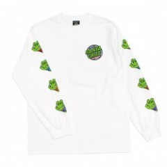 "SANTA CRUZ×TMNT コラボL/STシャツ ""TMNT SEWER DOT L/S TEE"" (White)"