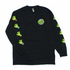 "SANTA CRUZ×TMNT コラボL/STシャツ ""TMNT SEWER DOT L/S TEE"" (Black)"