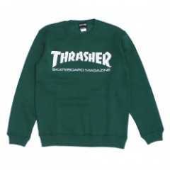 "THRASHER クルースウェット ""MAG CREW SWEAT"" (Ivy Green/White)"