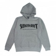 "THRASHER パーカ ""BACKWARD PARKA"" (Heather Gray)"