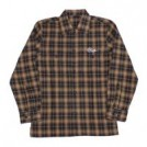 "PLUGS L/Sシャツ ""OMBRE CHECK SHIRTS"" (Brown)"