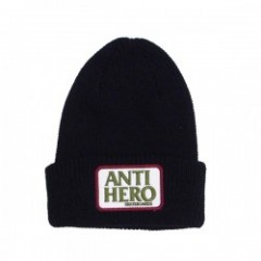 "ANTIHERO ビーニー ""RESERVE PATCH CUFF BEANIE"" (Black)"