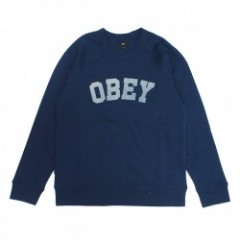 "★30%OFF★ OBEY クルースウェット ""ACADEMY CREW SWEAT"" (Navy)"