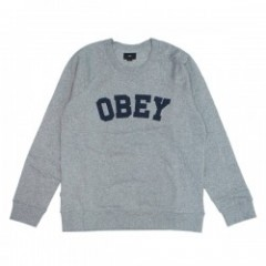 "★30%OFF★ OBEY スウェット ""ACADEMY CREW SWEAT"" (H.Gray)"