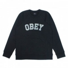 "★30%OFF★ OBEY スウェット ""ACADEMY CREW SWEAT"" (Black)"