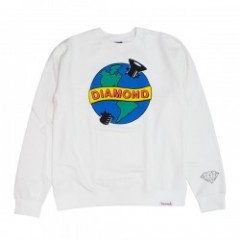 "DIAMOND SUPPLY CO. ""PANDEMIC CREWNECK"" (White)"