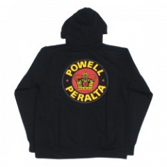 "POWELL パーカ ""SUPREME PULLOVER HOODY"" (Black)"