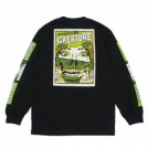 "CREATURE L/STシャツ ""HORROR FEATURE L/S TEE"" (Black)"