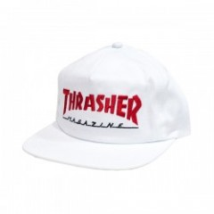 "THRASHER キャップ ""MAGAZINE TWO-TONE CAP"" (White/Red)"