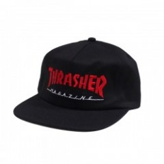 "THRASHER キャップ ""MAGAZINE TWO-TONE CAP"" (Black/Red)"