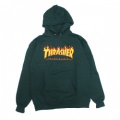 "THRASHER パーカ ""FLAME LOGO HOODIE"" (Forest Green)"