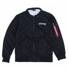 "★30%OFF★ THRASHER ""MAG QUILTING MA-1 TYPE JKT TH5095-B"" Blk"