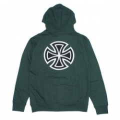 "INDEPENDENT パーカ ""BAR/CROSS PULLOVER HOOD"" (Alpine Green)"