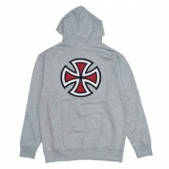 "INDEPENDENT パーカ ""BAR/CROSS PULLOVER HOOD"" (Heather Gray)"