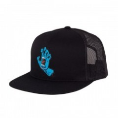 "SANTA CRUZ キャップ ""SCREAMING HAND FRONT MESH CAP"" (Black)"