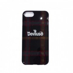 "Deviluse iPHONEケース ""D.V.U.S CHECK iPHONE CASE"" (Black) 6/7/8対応"