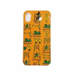 "Deviluse iPHONEケース ""HIEROGLYPHIC iPHONE CASE"" (Yellow) X/XS対応"