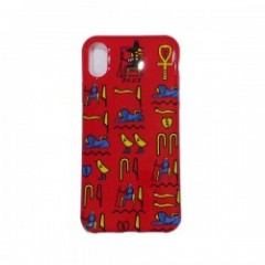 "Deviluse iPHONEケース ""HIEROGLYPHIC iPHONE CASE"" (Red) X/XS対応"