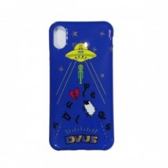 "Deviluse iPHONEケース ""UFO iPHONE CASE"" (Blue) X/XS対応"