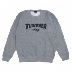 "★30%OFF★ THRASHER クルースウェット ""THRASHER mag CREW SWEAT"" (Gray)"