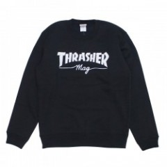 "★30%OFF★ THRASHER クルースウェット ""THRASHER mag CREW SWEAT"" (Black"